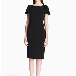 Calvin Klein Solid Sheath Dress w/Trim Sz.10